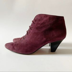 Vintage 90s Bally suede ankle boots